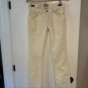 Lucky Brand | Cream Corduroy Pants
